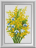 Алмазная мозаика Мимоза Dream Art 30586 38x55см 35 цветов, квадр.стразы, полная зашивка. Набор алмазной