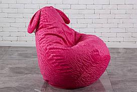 Детское Кресло груша 90х60 Розовый заяц с ушами