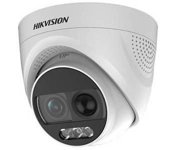 Відеокамера Hikvision DS-2CE72DFT-PIRXOF (2.8 ММ) 2.0 Мп Turbo HD ColorVu з PIR датчиком і сиреною, фото 2