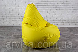 Бескаркасное Кресло мешок груша пуфик  XL Желтое (120х75)