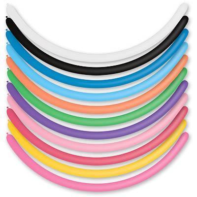 Q 160-4 пастель асорті. Латексні кулі для моделювання ШДМ мікс кольорів