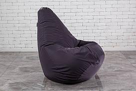 Бескаркасное Кресло мешок груша пуфик  XL Серое (120х75)