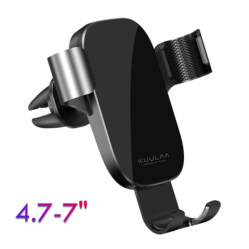 Автомобільний алюмінієвий тримач для телефону 360° гравітаційний автотримач смартфона телефону на
