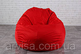 Красное Бескаркасное Кресло мешок груша XXL 130х160