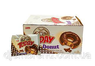 Пончик Today Donut с шоколадом, 50 г. (Донат с шоколадом). 24 шт в коробке.