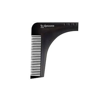 Мужская расческа для стрижки бороды Scalpmaster Shaping Shaving Comb