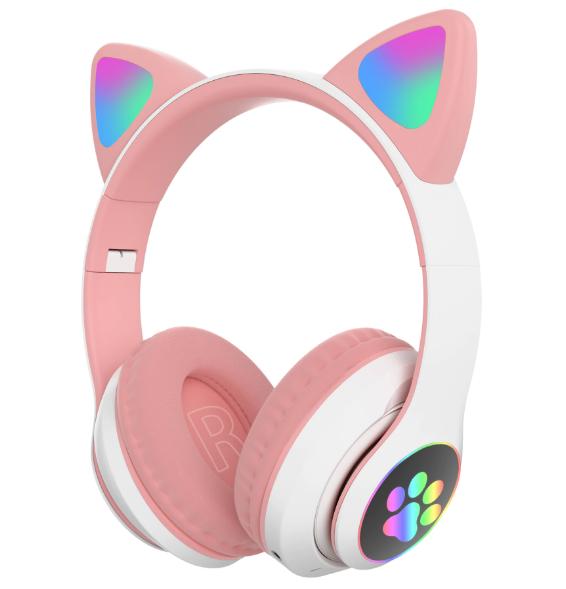Наушники с кошачьими ушками Bluetooth Cat