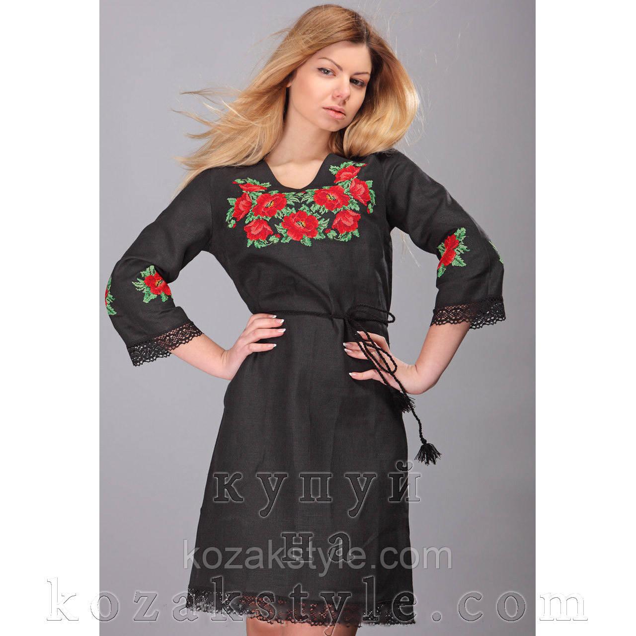 a95d3940b6c6f3 Сукня лляна вишита хрестиком з мереживом: продажа, цена в Запоріжжя ...
