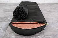 Туристический спальный мешок Хаки (до -2). Спальник туристический для похода весна и осень