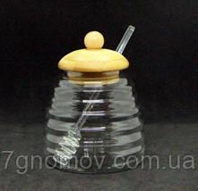 Сахарница стеклянная Медовница большая 500 мл арт. 16504-5