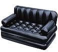 Надувний диван-трансформер Матрац 75056 зі спинкою, 188-152-64см, насос 220V, в сумці, фото 2