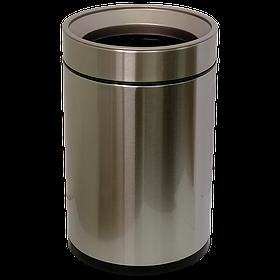 Ведро для мусора JAH 12 л (круглое, без крышки, цвет серебряный металлик, с внутренним ведром)