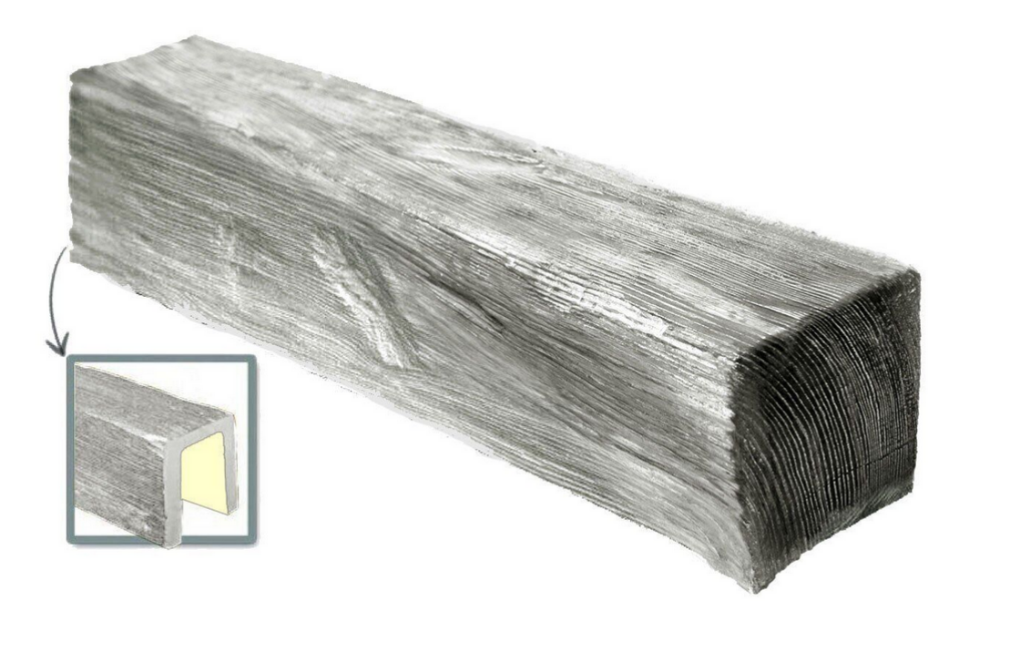 Балка потолочная декоративная  Модерн ED 107 (3м) сіра 6х9, лепной декор из полиуретана.
