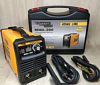 Сварочный инвертор Kaiser MMA-280 HOME LINE (пластиковый кейс, горячий старт , форсаж дуги, антиприлипание)