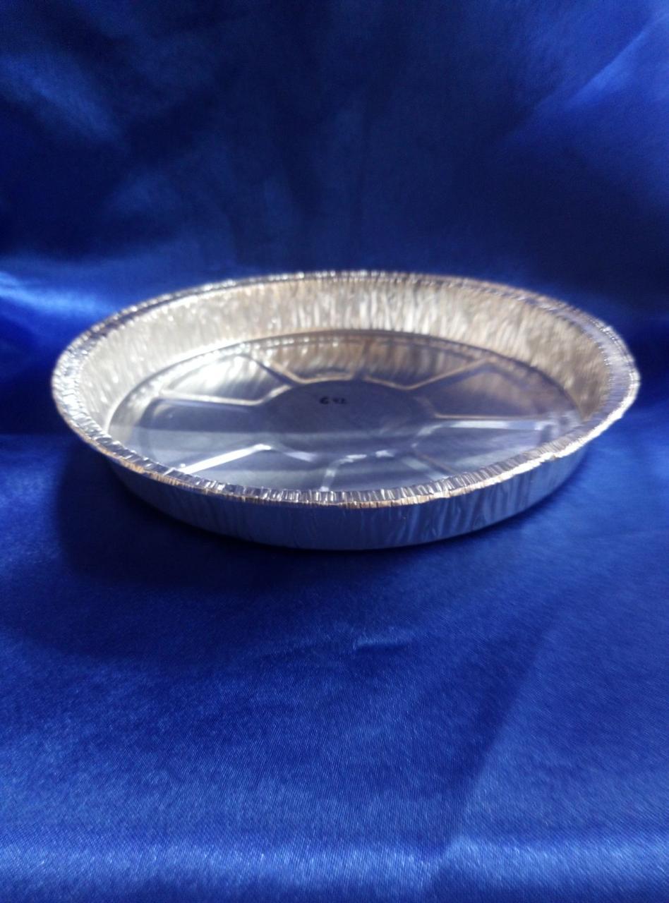 Контейнер пищевой алюминиевый круглый 100 шт в упаковке С 42