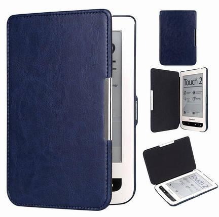 Чохол обкладинка PocketBook 624 Basic Touch темно синій, фото 2