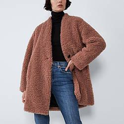 Пальто женское из искусственного меха Peach Berni Fashion (S)