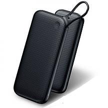 Зовнішній акумулятор повербанк power bank BASEUS 20000mAh з технологією швидкої зарядки QC3.0 + PD3.0 Чорний
