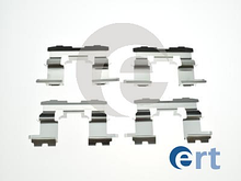 Монтажнный комплект передних колодок (пластины) BYD F3