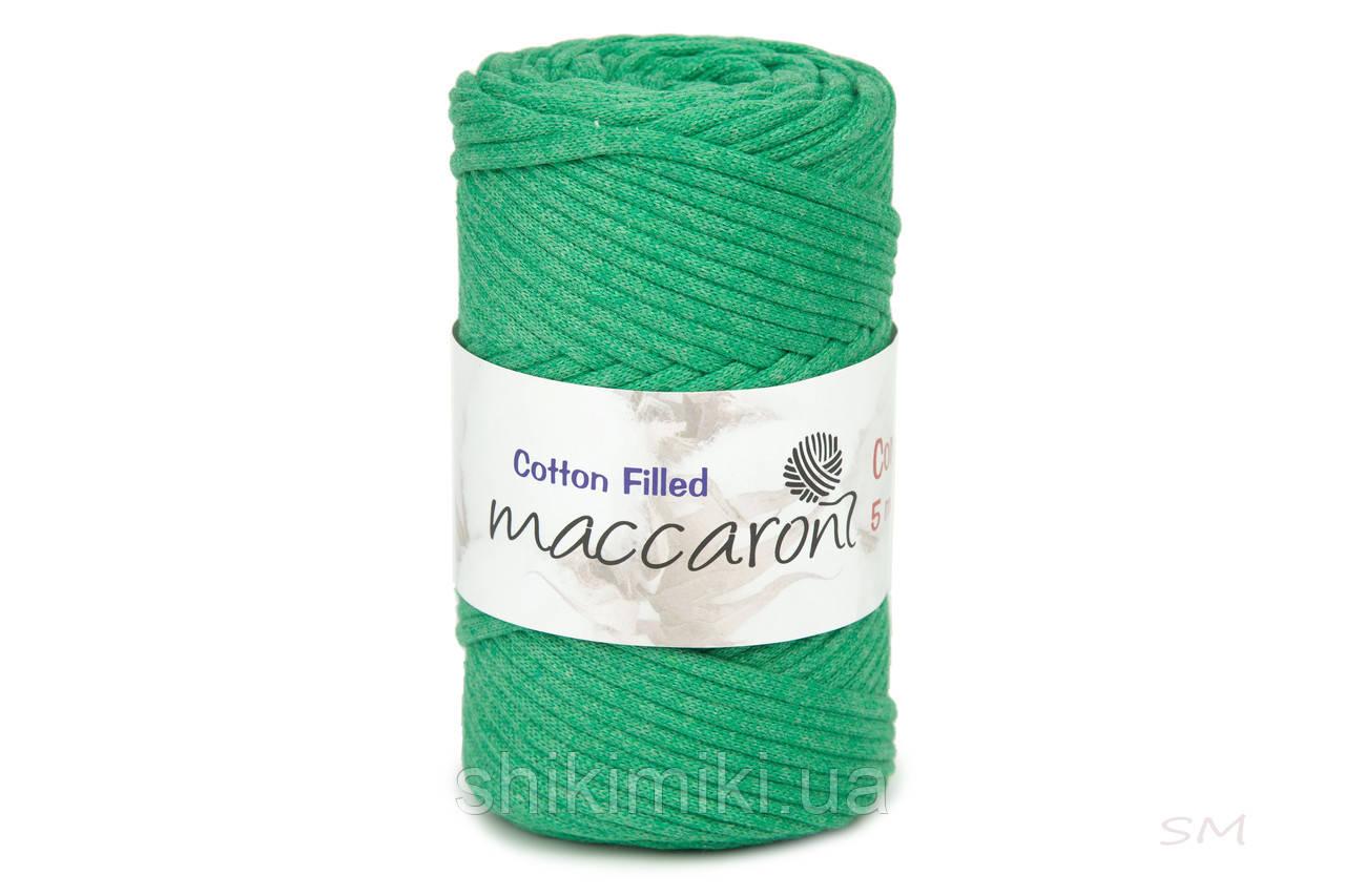 Трикотажный хлопковый шнур Cotton Filled 5 мм, цвет Трава
