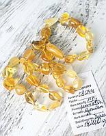 Янтарные бусы из крупного натурального светлого янтаря (Украина)