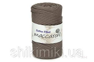 Трикотажный хлопковый шнур Cotton Filled 5 мм, цвет Тауп