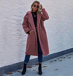 Пальто женское из искусственного меха Style, розовый Berni Fashion (S)