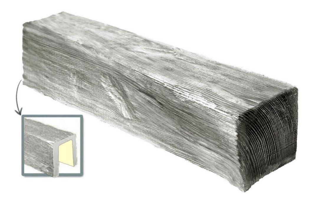 Стельова Балка декоративна Модерн ED 105 (3м) classic сіра 19х13, ліпний декор з поліуретану.