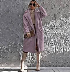 Пальто женское из искусственного меха Style, фиолетовый Berni Fashion (S)
