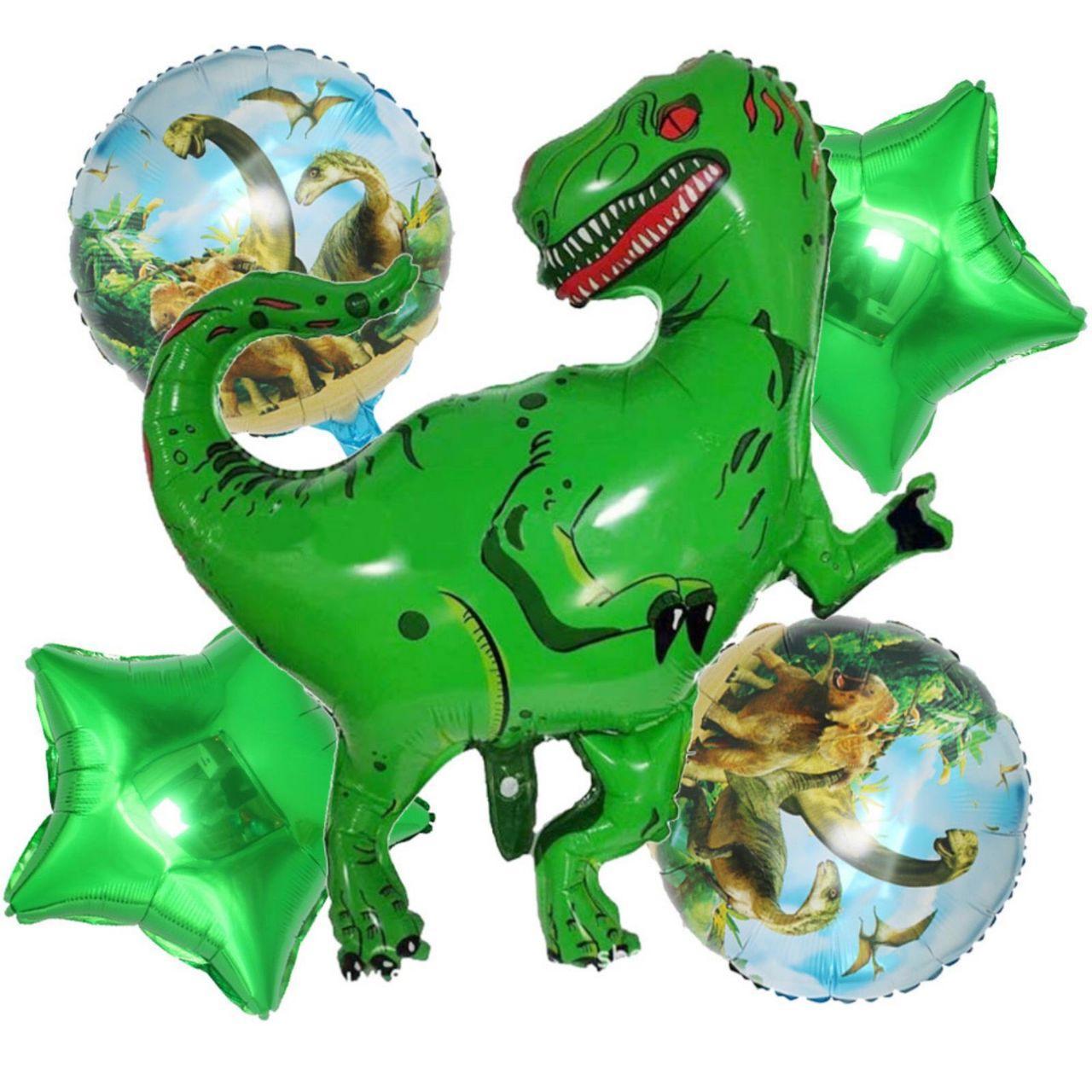 Набір фольгованих куль Динозавр в асортименті