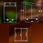 Морозильная камера 100 л 2 корзины с выпуклым стеклом STAR -18 ... -25 ° С, фото 4