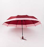 Женский бордовый зонт полуавтомат