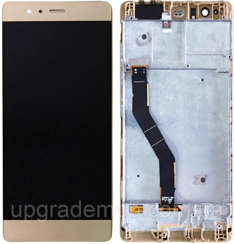 Дисплей Huawei P9 Plus тачскрін сенсор золотистий в рамці TFT копія