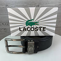 Мужской ремень Lacoste Лакост из натуральной кожи стильный качественный пояс для настоящих мужчин