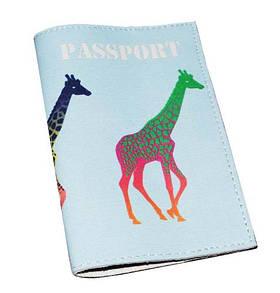 Обложка для паспорта Жирафы