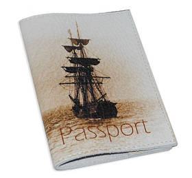 Обложка для паспорта Кораблик