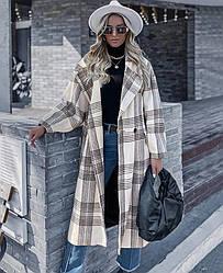 Пальто женское прямого кроя Black line Berni Fashion (S) Черный