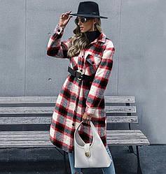 Пальто-рубашка женское удлиненное Red cage Berni Fashion (S) Черный