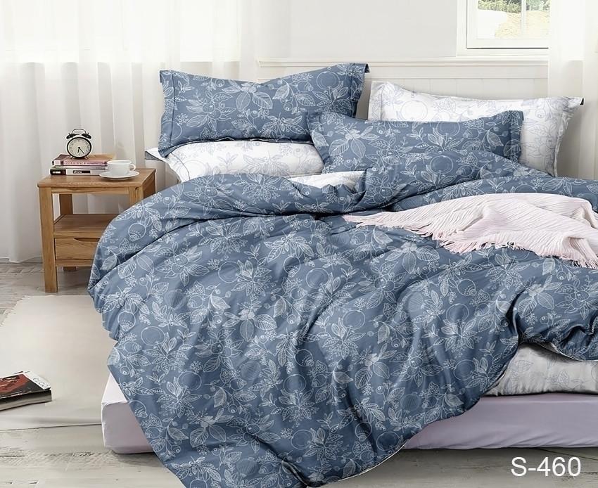Евро комплект постельного белья с узорами цветов, Сатин-люкс
