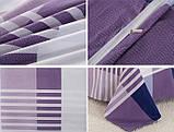 Двоспальний комплект постільної білизни фіолетового кольору в клітинку, Сатин-люкс, фото 3