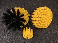 Щітки, насадки на шуруповерт, дриль для хімчистки салону (Жорсткі)
