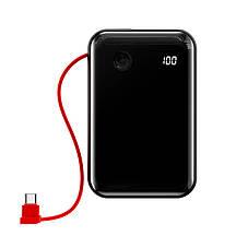 Зовнішній акумулятор повербанк power bank BASEUS 10000mAh з технологією швидкої зарядки QC3.0 + PD3.0 Чорний