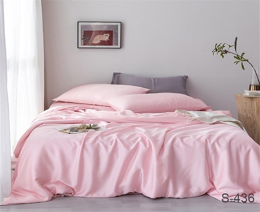 Двуспальный комплект постельного белья розового цвета, Сатин-люкс