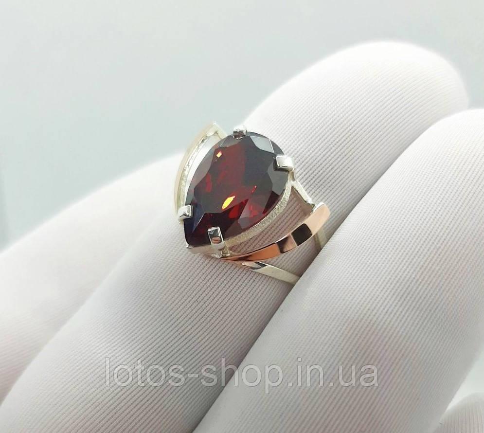"""Серебряное кольцо с золотыми пластинами""""Вежда"""""""