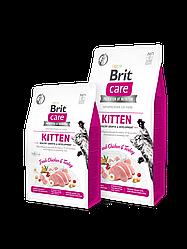 Сухой корм  Brit Care Cat GF Kitten Growth & Developmen для котят (курица/индейка)