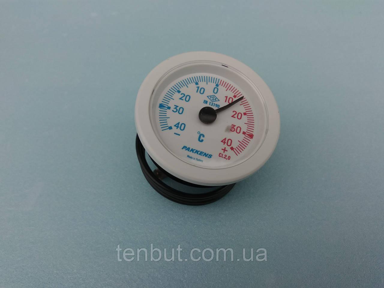 Термометр с капилляром 40℃±40℃ град. / Ø -52 мм./1-метр PAKKENS