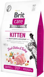 Сухой корм  Brit Care Cat GF Kitten Growth & Developmen для котят (курица/индейка) 7 кг