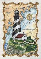"""06779 Набір для вишивання хрестом """"Світло для моряків//Mariner's Light"""" DIMENSIONS"""