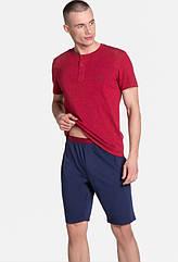 Піжама чоловіча DUNE футболка+шорти бордово-синій колір. ТМ Henderson. L