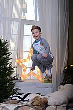 Детская пижама для мальчика SMIL Украины 104305 бело-синий